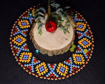 Bead necklace NECKLACE Collar necklace Ethnic handmade Ukraine necklace