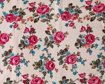 Brushed French Terry Knit Fabric Rose Beige