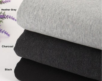 French Heavy Terry Knit Fabric in 3 Colors By The Yard