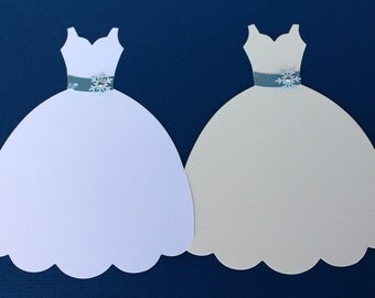 Large Die Cut Dress Form, Winter Wedding Dress Sizzix Fabi Dress Die-cut, Bridal Shower Wedding Invitation die cut dress embellishments