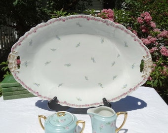 Limoges 12 1/2 x 18 1/2 inch Platter by A Klingeberg and Charles Dwenger Circa 1900-1910. Made in France