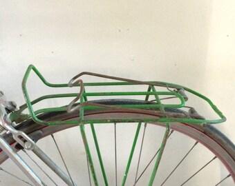 Bike rack rare soviet vintage bicycle basket old bike metal rat-trap rack from 1970ies