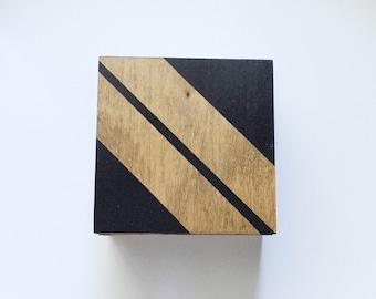 Wooden Coaster Set of Six-Black