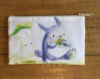 Totoro makeup bag