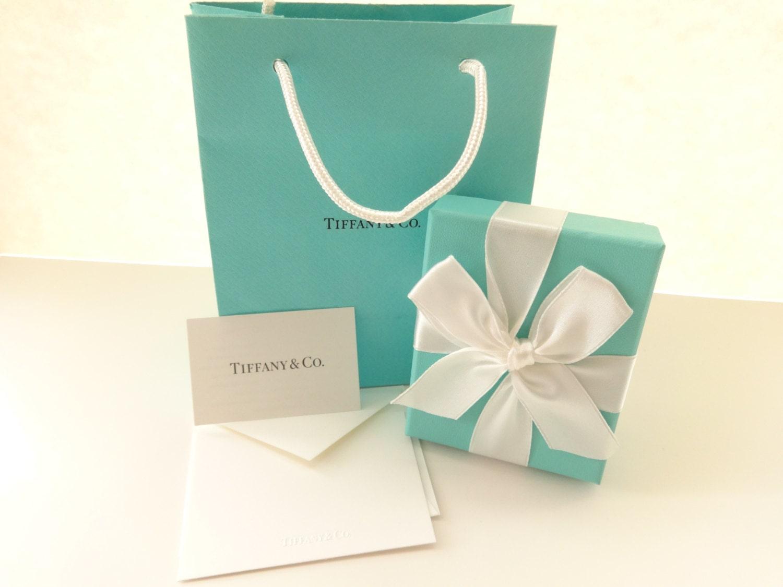 Tiffany Amp Co Authentic Blue Bag Cardboard Box White Ribbon