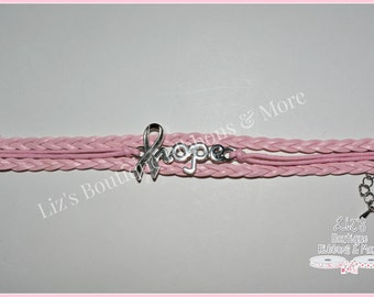 Awareness Bracelet, jewelry, breast cancer awareness, pink bracelet