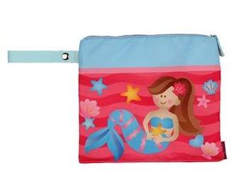 Personalized Mermaid Wet/Dry Swim Suit Beach Bag, Beach Bag for Swim Suit
