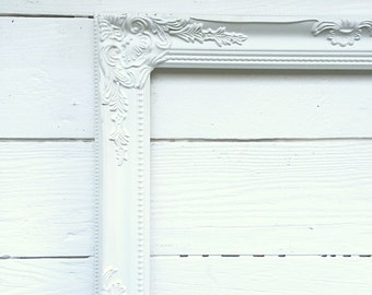 Shabby Chic White Frames Wedding Picture Frame Wall Hanging Frame Photo Prop Baroque Ornate Frame