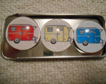 Vintage Boler Trailers Fridge Magnets