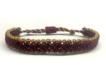 Burgundy band bracelet
