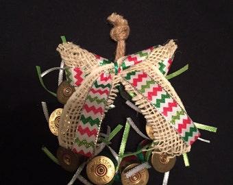 Shotgun shell wreath ornament chevron