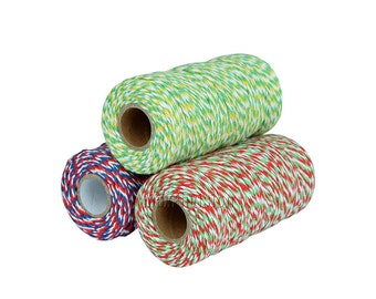 Free Shipping Cotton Baker's Twine 3 Ply Multi-color Scrapbooking Package Wrap Gift Wrap 110 Yard M122
