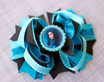 EVIE Descendants Hair Bow Clips Girl Birthday Gift Costume Girls Teen Evie