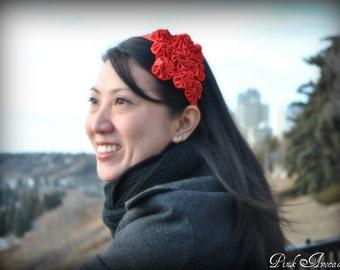 Handmade Red Yoyo Headband