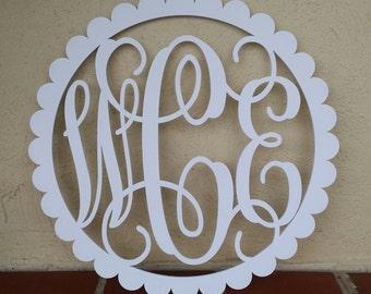 Painted Wooden Monogram - Monogram Door Hanger - Nursery Wall Hanging - Wedding Monogram - Monogram Gift