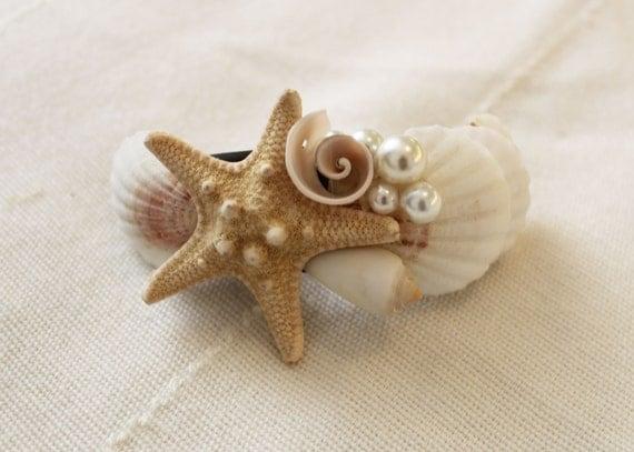 Seashell hair clip hair accessory beach wedding seashell for Seashells for hair