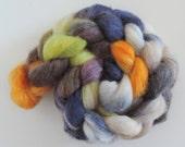 Perendale Babyalpaca silk, déjeuner de songe, fibres peint à la main à la filature, 120 g peigné fleuries