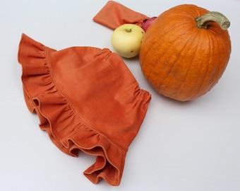 Pumpkin skirt. Natural cord ruffled skirt. Many colors. 68/9 months-140/9 baby toddler girl