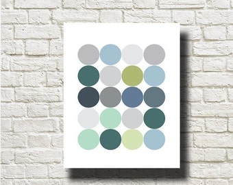 70%OFF Geometric Balls Printable Instant Download Abstract Art Print Poster Wall Art  GF023