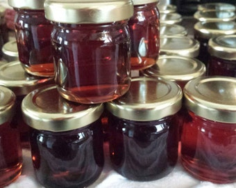25 DIY pure maple syrup favors, shipping included, undecorated 1.5oz glass