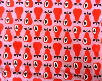 Fabric - jersey fabric - red and pink - Simply pears