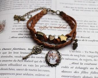 charm bracelet charm folk bronze Fox