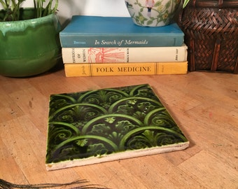 Tile Trivet // Square / Greens
