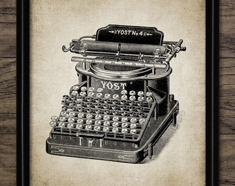 Vintage Typewriter Print - Office Typewriter - Typewriting Machine - Vintage Typing Home Decor - Single Print #340 - INSTANT DOWNLOAD