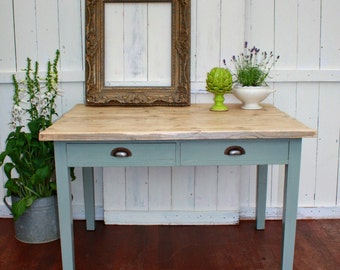 Solid Wood Two Drawer Table