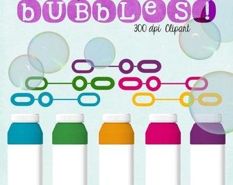 70% OFF THRU 7/30 Bubbles Clipart, Summer Fun, Digital Bubbles, Blog Scrapbooking Website, Commercial Use Graphics