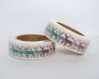 Masking tape Reindeer  scrapbooking planner supplies Gift  decoration winter