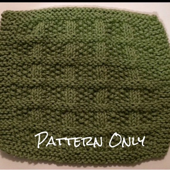 Basket Weaving Star Pattern : Basket weave dishcloth knitting pattern