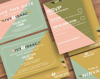 Geometric is in this season - wedding package
