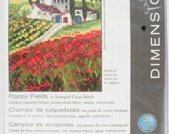 Dimensions Poppy Fields Stamped Cross-Stitch Kit