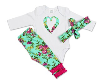 Bringing Home Baby Outfit - Floral Print - Bringing Home - Newborn Girl