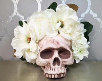 Off White Bridal Flower Headband