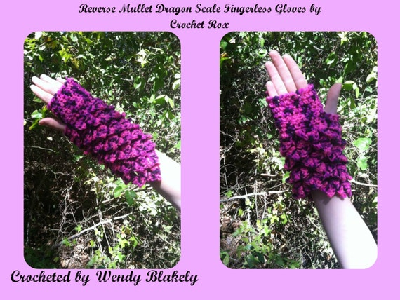 how to make dragon scale fingerless gloves