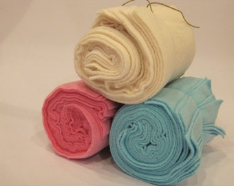 Reusable Microfleece Cloth Diaper Liners (4 packs of 10 / 40 total)