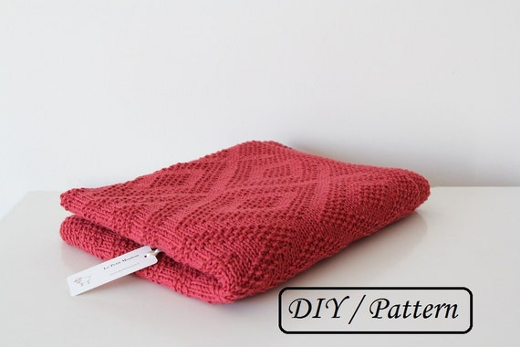 Baby blanket pattern /knit baby blanket pattern