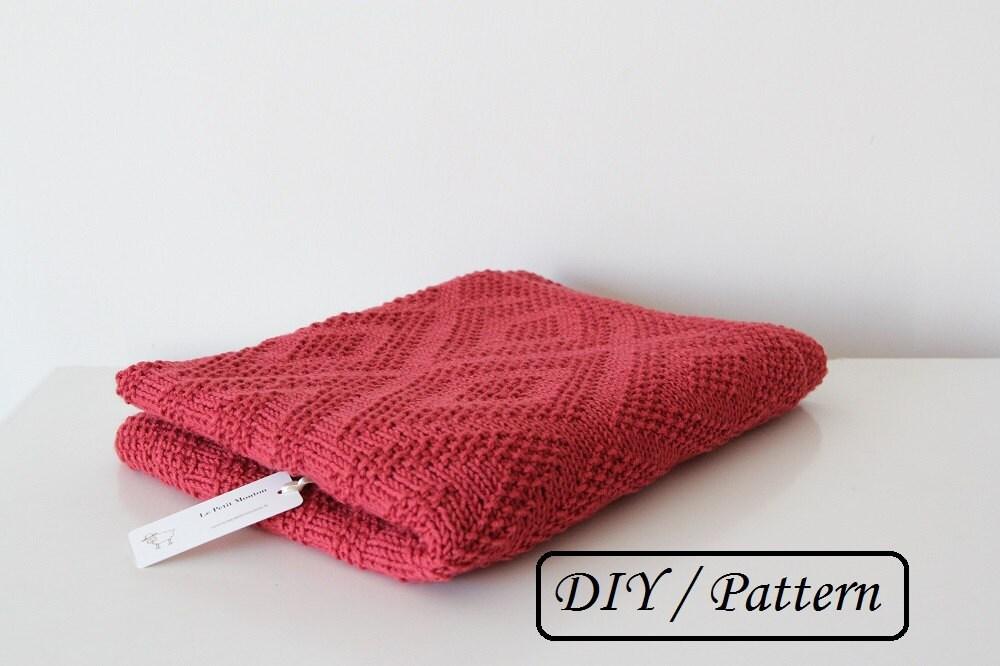 Knitting Patterns For Baby Blankets Australia : Baby blanket pattern knit