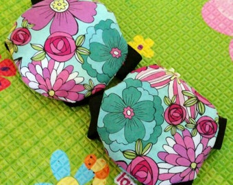 Floral Baby Girl's Infant's Handmade Knee Pad Cap Crawler knee protection 6 - 12 M Month Gift
