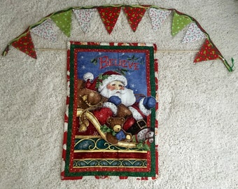 Christmas wall hanging and Christmas banner two peice set Two styles
