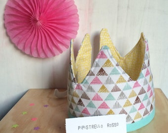 Fabric crown for birthdays, parties, dressing-up