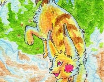 ACEO Card print - #181 Pikachu auf Zack