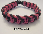 Macrame Tutorial: Instant Download. Two Colour Bracelet Tutorial