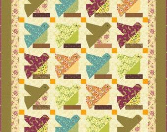 Bird on a Limb Quilt Pattern. Bird Patchwork Block - INSTANT DOWNLOAD
