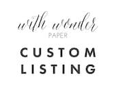 Custom Listing for Pat