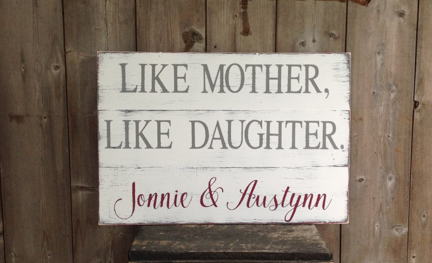 Like Mother Like Daughter Sign Like Mother By