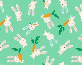 Flo's Friends - Rabbits Mint - Makower UK - Andover (TP-1628-1)