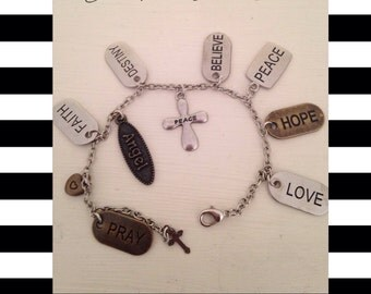 Faith Virtue Charm Bracelet